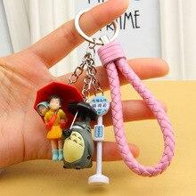2020 Miyazaki Hayao Comic My Neighbor Totoro Keychains Pendant for Women Trinket Metal Key Chains Car Bag Pendent Keyrings недорого