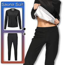 CAPMAP 2021 New Sauna Suit Ls Suitable For Women To Lose Weight Sweat Top Slim Fitness Clothing Yoga Running Sports Set