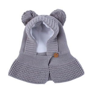 Image 3 - Connectyle 2019 New Style Toddler Infant Boys Girls Winter Warm Hat Cute Thick Earflap Hood Hat Scraves With Pom Pom