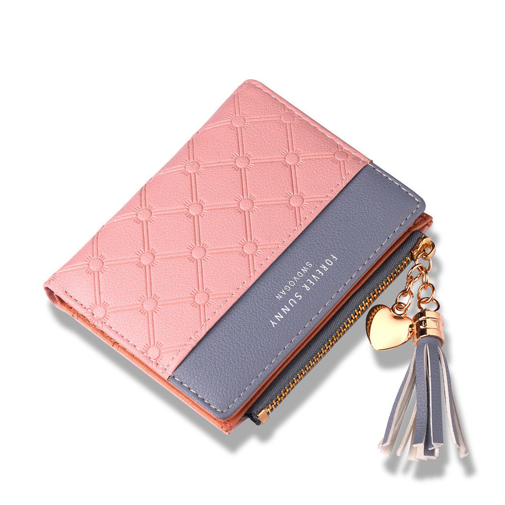 New Luxury Short Women Leather Wallets Small Purse Zipper Coin Pocket Ladies Credit Card Holder Money Bag For Woman