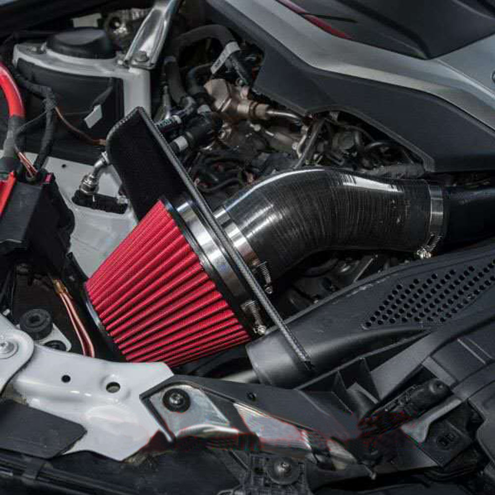 """Black 3.5/"""" 89mm Cold Air Intake Cone Filter For Audi A3 A4 A5 A6 TT"""