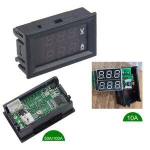 Image 3 - DC 100V 10A 50A 100A Mini 0.28inch LED Digital Voltmeter Ammeter Volt Ampere Meter Amperemeter Voltage Indicator Tester