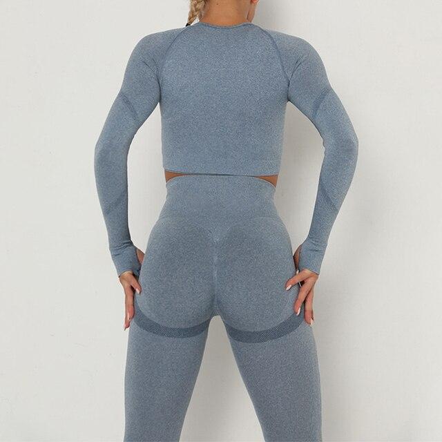 женский спортивный костюм набор одежды для йоги тренировок тренажерного фотография