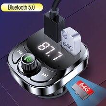 Jinserta carro bluetooth fm transmissor handsfree chamada dupla usb carregador suporte u disco tf cartão mp3 leitor de música