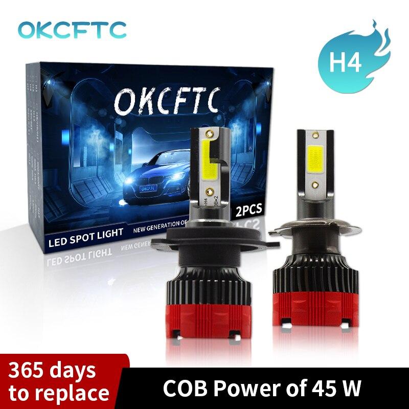 OKCFTC Car Haedlight LED H4 H7 LED H1 H11 9005 9006 6000K Auto fog Light 80W 14000LM 12V LED Bulb