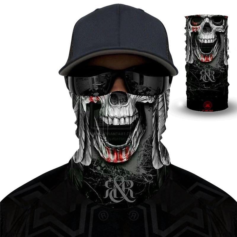 Skull Joker Anime Magic Scarf Halloween Hoody Mask Cycling Ski Cap Neck Gaiter Bandanas Balaclava Seamless