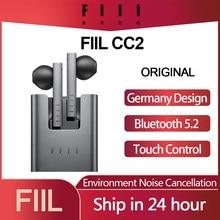 FIIL – écouteurs sans fil Bluetooth 5.2, oreillettes de jeu, stop-bruit, ENC, type-c, CC2