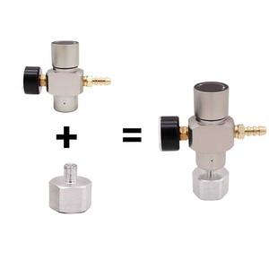Image 3 - 2 в 1 Sodastream CO2 мини газовый регулятор CO2 зарядное устройство TR21 * 4 0 30 PSI Keg зарядное устройство для европейского пивного Kegerator
