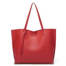 Prosty Trend PU skórzane torebki damskie torebki wysokiej jakości dorywczo kobiece torby z frędzlami o dużej pojemności bagażnika torba na ramię panie tanie tanio Wiadro CN (pochodzenie) Moda Versatile OPEN Unisex NONE Otwarta kieszeń Poliester 3654-JY01 SOFT Stałe