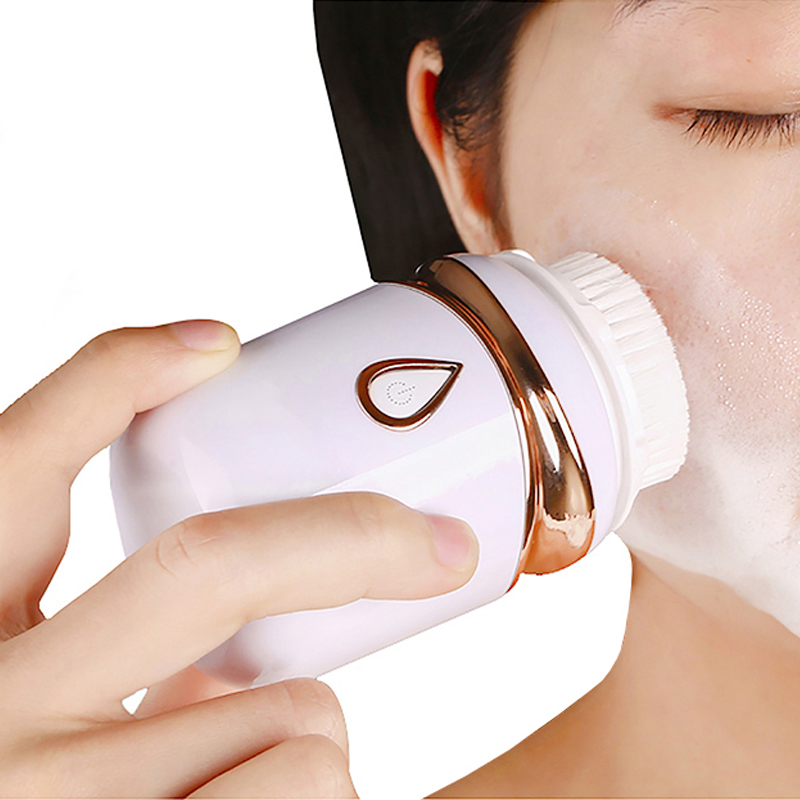 Image 5 - Ultrasonic Powered Face Cleansing Brush 3in1 Skin Scrubber Brosse Nettoyante Visage Cleansing Device Waterproof Cepillo Facial-in Powered Facial Cleansing Devices from Home Appliances