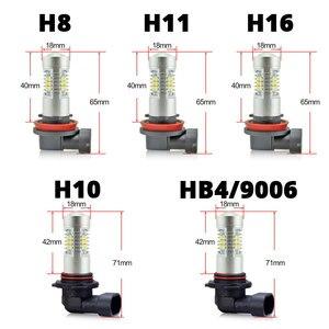 Image 2 - VANSSI 2 Chiếc H8 H11 Đèn LED Sương Mù Bóng Đèn 6000K Trắng HB4 9006 H10 9145 H16 Bóng Đèn LED Ô Tô đèn Bảo Hành 1 Năm
