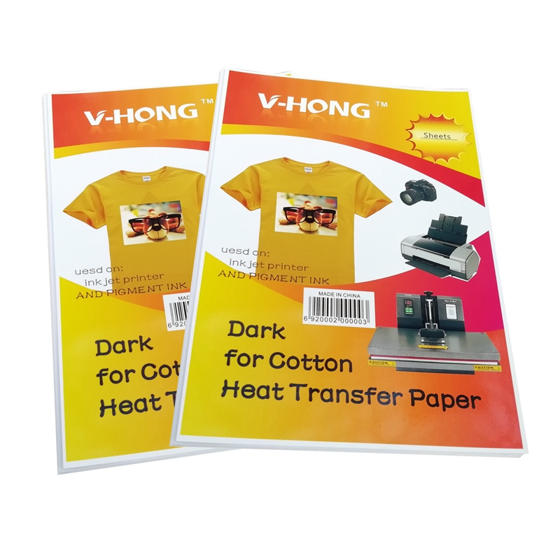 Personality Customized Group Activity Party Thermal Transfer Printing Inkjet Iron-On Dark T-Shirt Transfers Paper 8.3x11.7