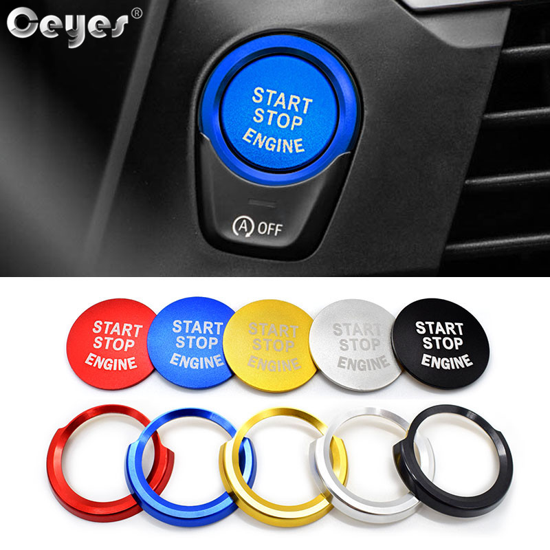 Ceyes Car Stickers For Bmw X3 X4 X5 X6 5 6 7 Series Engine Ignition Start  Button Ring Covers