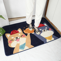 Bathroom Mat Mat Floor Decoration Dog Pattern Nylon Home Sofa Kitchen Dining Room Bedroom Floor Mat Skid Resistant