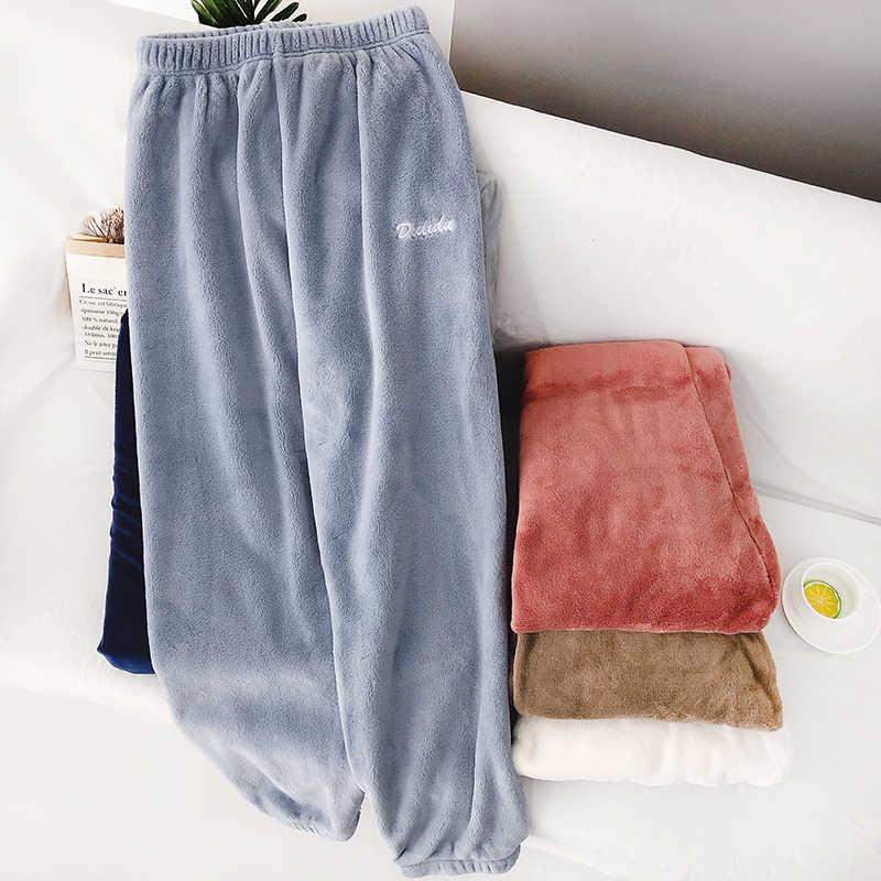 Heliar 冬暖かいベルベット女性弾性ウエスト上着ハーレムのズボン長ズボンカシミヤルーズパンツ