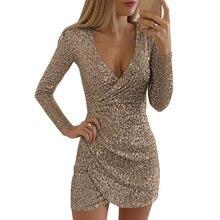 אופנה סקסית שמלת נצנצים שמלות נשים בתוספת גודל Vestidos מקרית שמלות Bodycon קצר אלגנטי שמלת נשים
