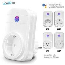 Умная вилка с Wi Fi, электрическая розетка, адаптер для ЕС/США/Великобритании/Австралии с голосовым управлением и дистанционным управлением через Echo Alexa Google Home Assistant
