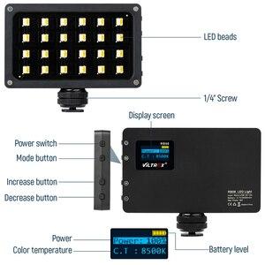 Image 5 - Viltrox RB08 двухцветный 2500K 8500K мини видео светодиодный свет портативный заполнясветильник со встроенной батареей для телефона камеры съемки YouTube
