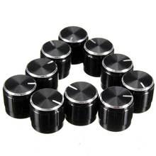 10 шт/лот черные 6 мм ручки потенциометра накатанные крышки