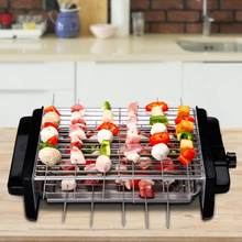 Household Electric BBQ Grill Smokeless Non-stick Barbecue Machine Double Grill Accessories Household(China)