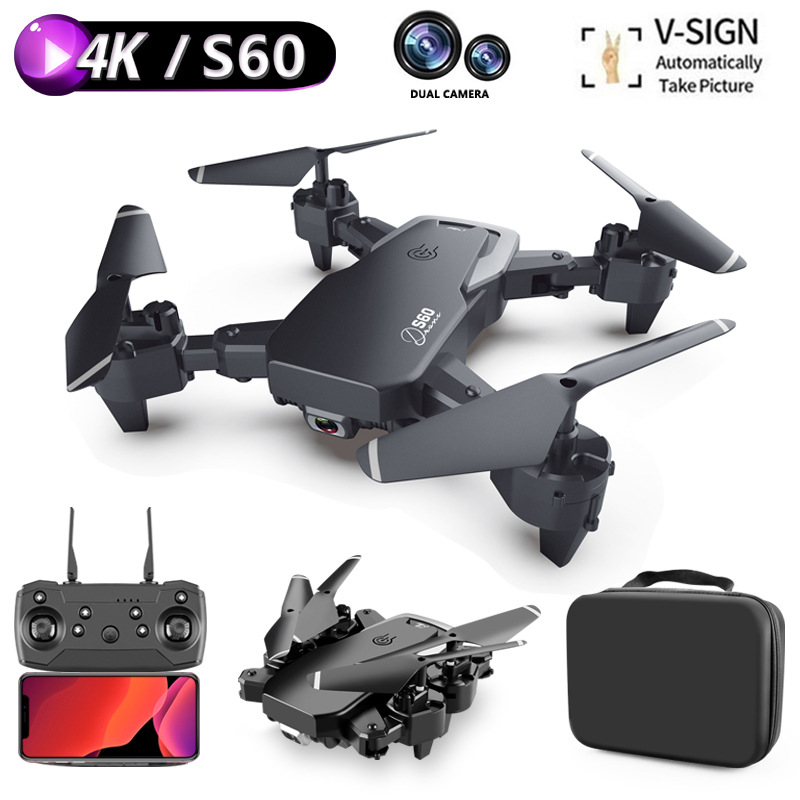 Drone 4k HD Wide Angle Camera 1080P WiFi fpv Drone Dual Camera Quadcopter Height Keep mini drone Camera Dron Helicopter Toy