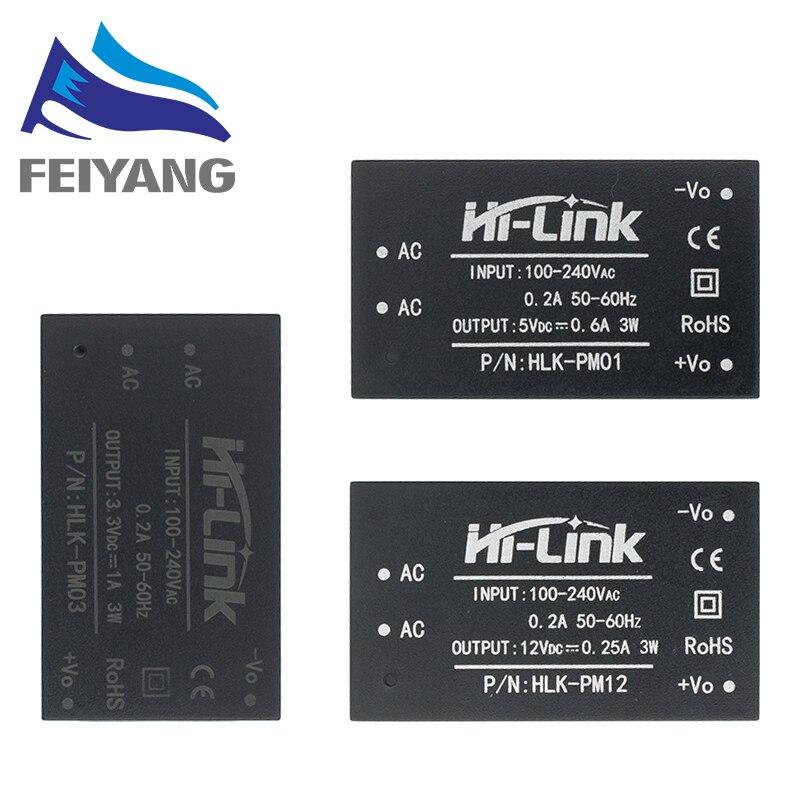 10 шт./лот HLK-PM01 HLK-PM03 HLK-PM12 AC-DC 220 В до 5 В, мини-модуль питания, интеллектуальный бытовой коммутатор, модуль питания