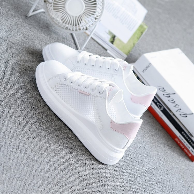 Women Casual Shoes Summer Spring Women Shoes Fashion Embroidered Breathable Hollow Lace-Up Sneakers Women shoes 2019