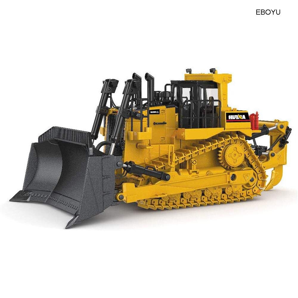 EBOYU 1:50 Diecast Bulldozer Track Type Tractor Alloy Dozer Models Construction Vehicle Simulated Bulldozer Gift Toy For Kids