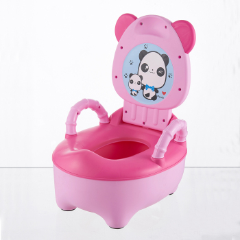 Baby Pot Children Training Potty Toilet Seat Kids Cartoon Panda Toilet Trainer Portable Travel Urinal Comfortable Backrest Pots 1