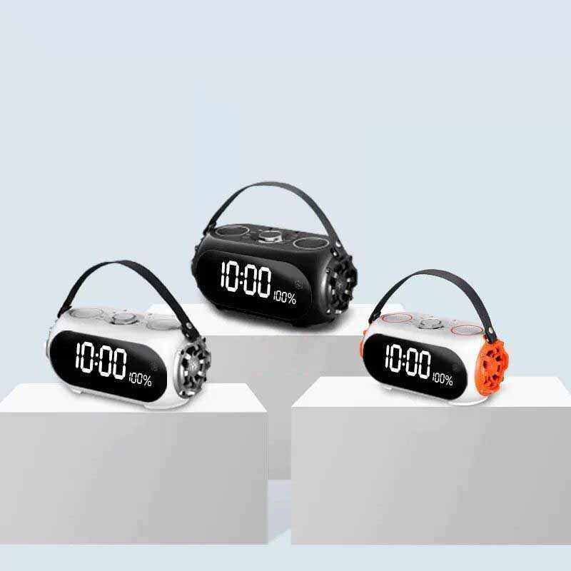 クリエイティブ時計 RS-Q60 ワイヤレス bluetooth ミラーアラーム時計電話カードポータブルオーディオサブウーファー
