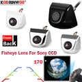 Koorinwoo HD CCD สำหรับ Sony 170 องศากล้อง Fisheye 4 สีสันรถกระจกมองหลังกล้องด้านหน้าเงินสีดำที่จอดรถระบบ
