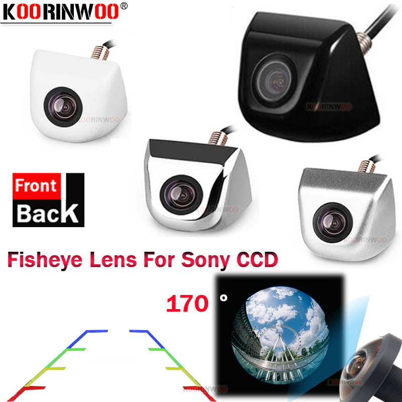 Koorinwoo HD CCD For Sony 170 Degree Car Parking Camera Fisheye 4 Colorful Car Rearview Camera Front Silver Black Parking System