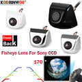 Koorinwoo HD CCD Sony 170 derece araba park kamerası balıkgözü 4 renkli araba dikiz kamera ön gümüş siyah park sistemi