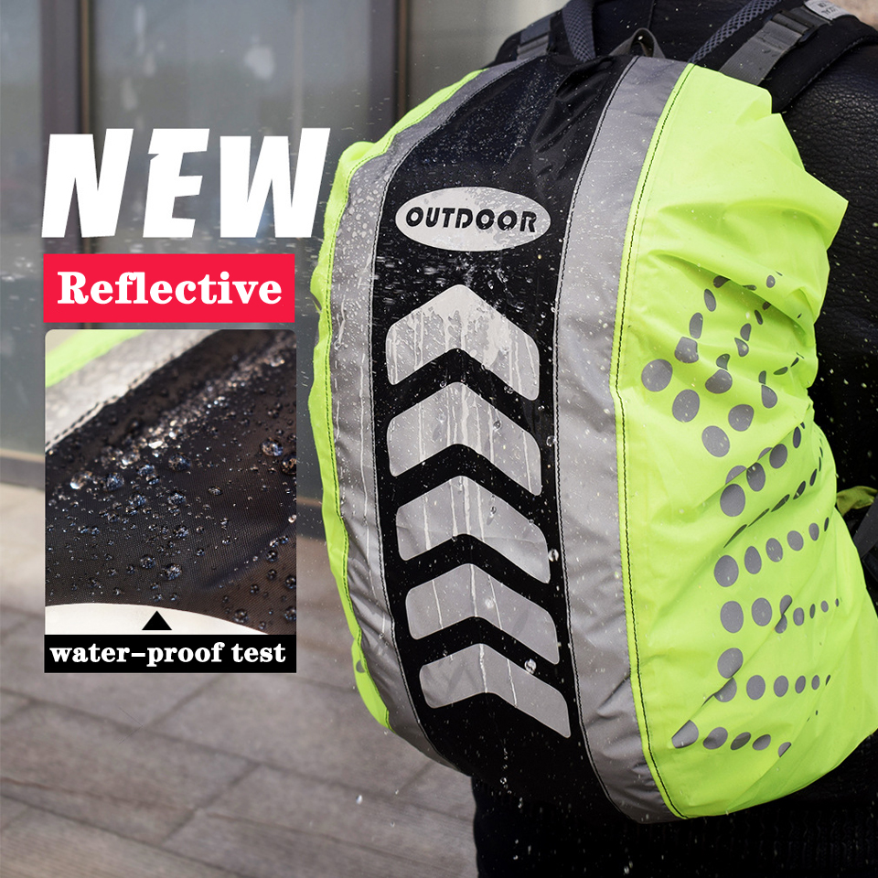 20-55L New Reflective Backpack Cover Sport Bag Covers Rain Cover Backpack Outdoor Riding Dustproof Waterproof Rainproof Covers