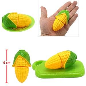 Image 5 - Mini légumes maïs fille personnage jouer cuisine jeu modèle ensemble coupe sécurité costume bricolage enfants noël cadeau jouets éducatifs