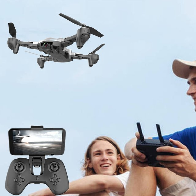 X12S Drone With 1080P Camera HD Wide Angle RC Plane Silver 2 4GHz WiFi FPV Drone RC Helicopter Altitude Hold RC Quadcopter