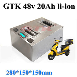 GTK battery 48V 20Ah  lithium battery pack with BMS for electric bicycle,motorbike and snowbike +5A charger.