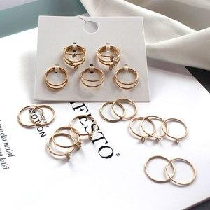 12 Pcs/set Korean Fashion Ring