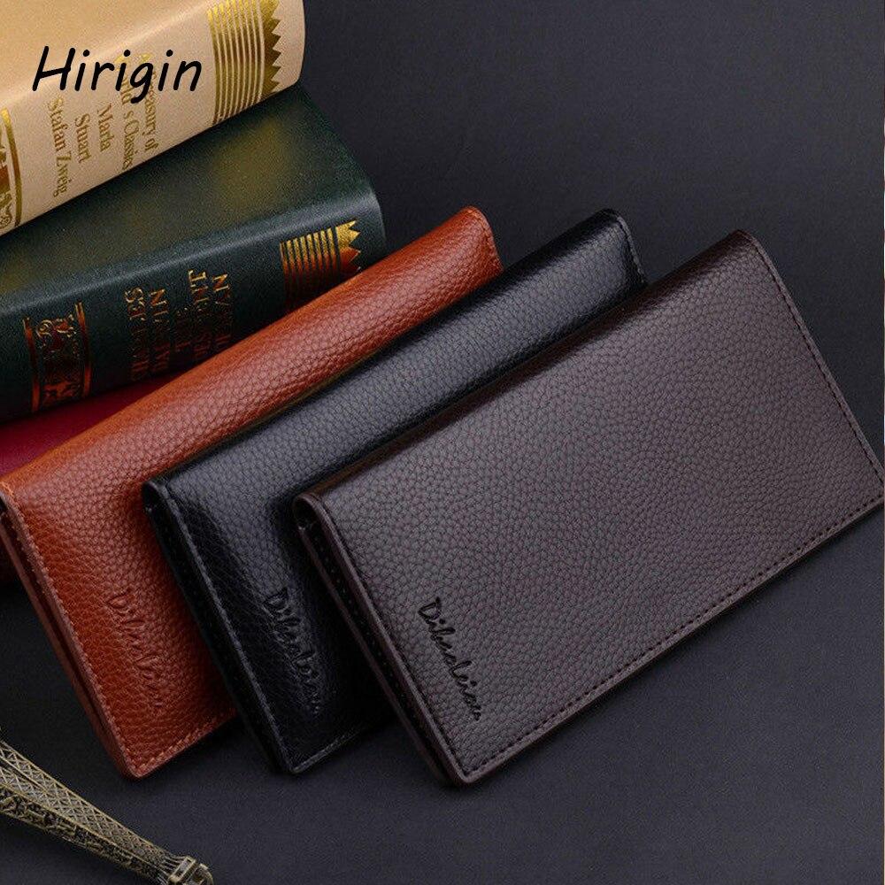 Male Bifold Leather Multi Wallets Business Men Credit Card Holder Checkbook Purse Long Wallet Clutch 2020 Faux Leather Wallets