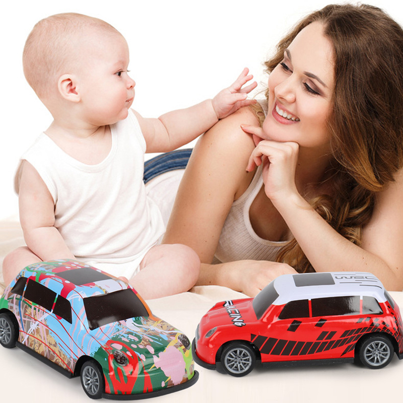 Toy Racing Car Alloy Iron Shell Racing Model Inertia Sliding Rail Car Mini Small Gift Toys For Children Boys