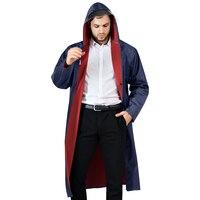 Erwachsene Regenmantel Mit Kapuze Lange Stil Männer Frauen Regen Mantel Outdoor Regen Getriebe Angeln Wandern Wasserdichte Poncho