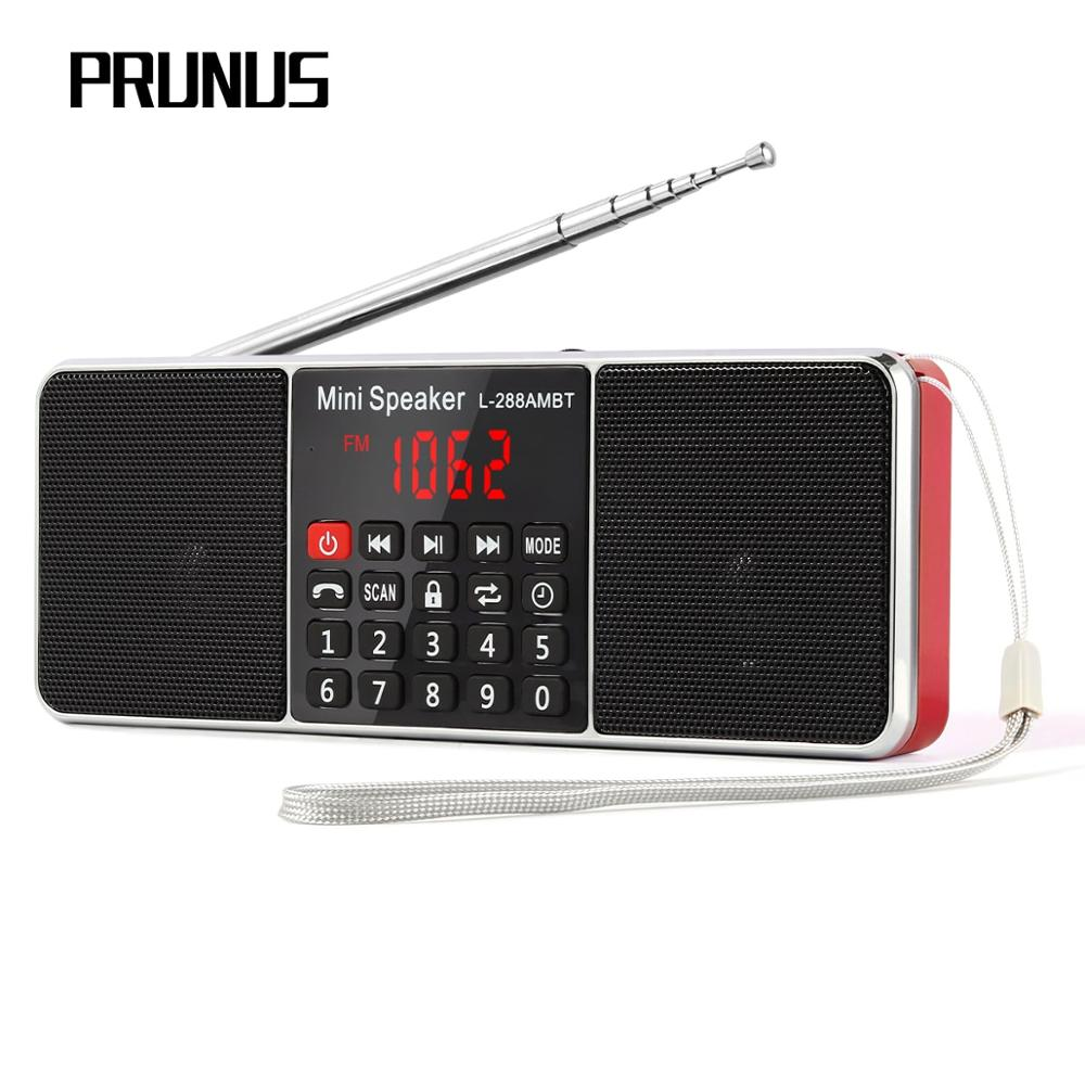 PRUNUS L-288 Portable Radio FM/AM/TF/SD Card Bluetooth Stereo Speaker USB Drive Radio Receiver Handsfree Call MP3 Player