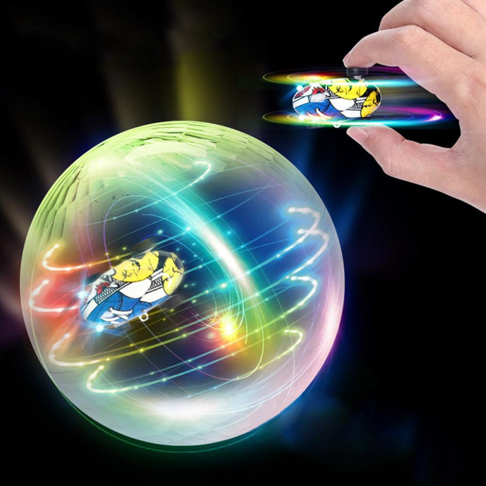 Children Spinning Toy Accessory Pocket LED USB Flash Racers Mini Cars Crystal Ball For Home KTV Bar Car Perfect Gift  Occasions