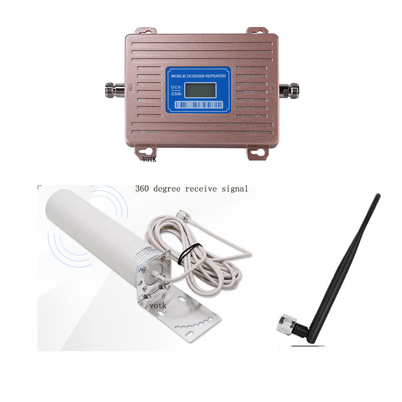Hot Sale GSM DCS Dual Band Signal Booster 2G 4G Cellular Signal Repeater Mobile 900 1800 4G Booster With Omni ANTENNA