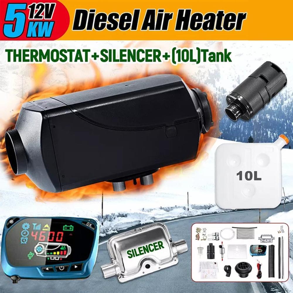 5 кВт 12 В черный топливный воздушный обогреватель топливный обогреватель автомобильный грузовик дизельный Обогреватель воздушный обогрев