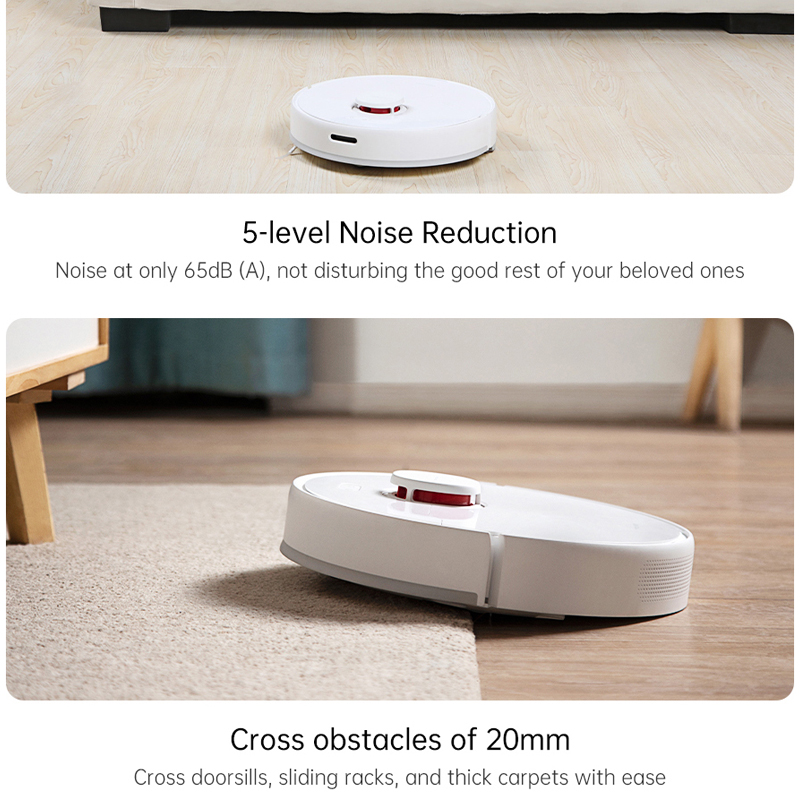 TROUVER Finder vacuum cleaner sweep robot wet mopping disinfection LDS laser navigation mijia mi home control APP virtual wall 3