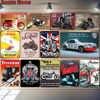 Автомобиль Мотоцикл Металлический плакат Norton BSA Vespa ретро-плакат настенная художественная живопись пластина бар гаражный Декор винтажный о...