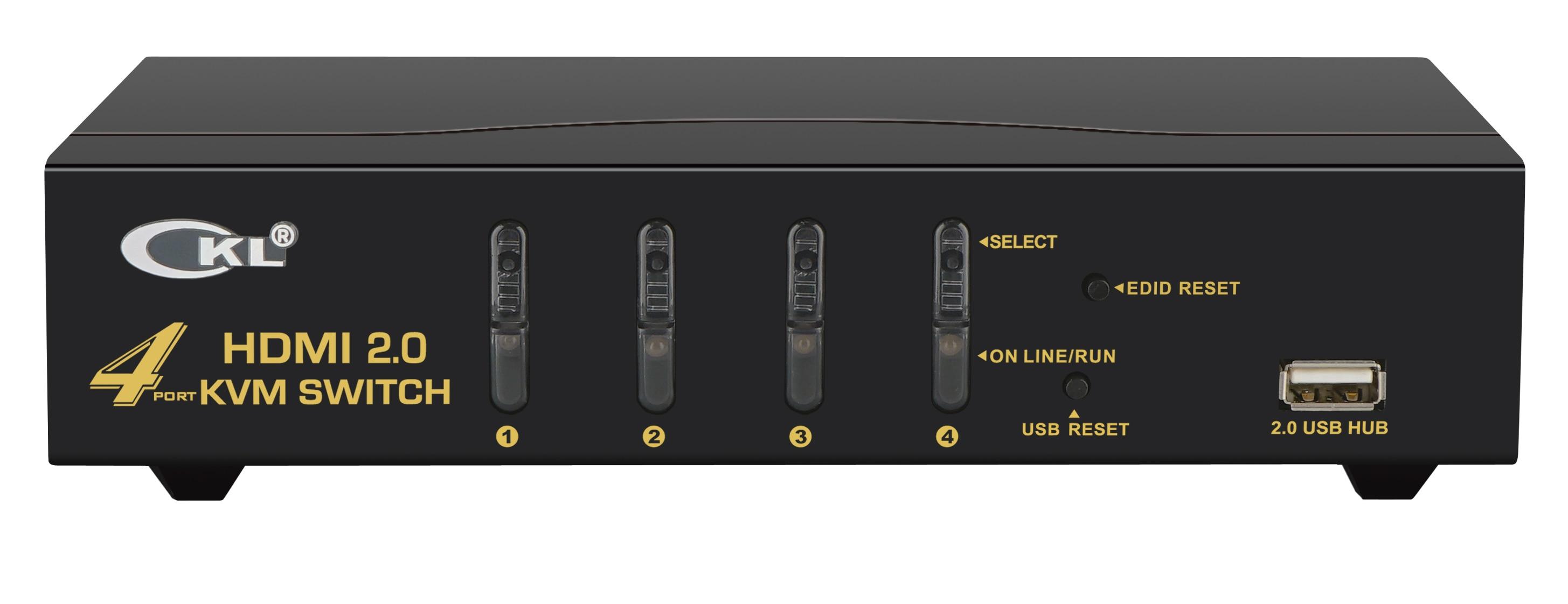 HDMI KVM Switch 4 Port  4Kx2K@60Hz,  3D, YUV 4:4:4  PC Monitor Keyboard Mouse Switcher For Computer Laptop DVR NVR Xbox PS3 PS4