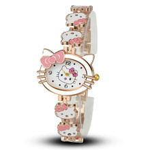 A Birthday Present Fashion Cartoon The Cat Children Watch Hand Catenary Trend