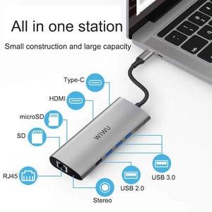Image 2 - WIWU 11 in 1 Multi USB 3.0 Hub for MacBook Pro USB Adapter Dock Charging Type c Hub HDMI RJ45 VGA USB Splitter 3.0 USB C Hub